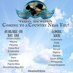 Countries that we are launching in! Each one has their own office and manufacturing place. This is life changing, Health and Financially! Get your spot locked in for FREE! Weight Loss Tea, Weight Loss Detox, Lose Weight, Bolivia, Ecuador, Costa Rica, Puerto Rico, Natural Body Cleanse, Columbia