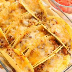 Oven Baked Beef Tacos in a casserole dish Oven Baked Beef Tacos in einer Auflaufform Oven Baked Tacos, Baked Tacos Recipe, Baked Chicken Tacos, Rotisserie Chicken Oven, Oven Chicken, Meat Recipes, Mexican Food Recipes, Cooking Recipes, Mexican Dishes