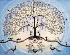 Contemporary Warli, tribal   warli warli painting, how to warli , indian warli painting, warli painting idea, how to make warli painting, indian arts, #warli #warlipainting