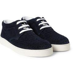 Bottega VenetaIntrecciato Suede Sneakers