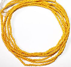 Yellow and Red Waist Beads Yellow Waist Beads by AfrowearHouse