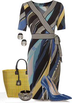"""Wrap Dress"" by yasminasdream ❤ liked on Polyvore"