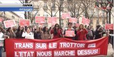 Парижские проститутки провели демонстрацию с требованием отменить принятый накануне закон.