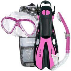 Head Marlin Purge Mask, Dry Snorkel, Volo One Fins & Bag