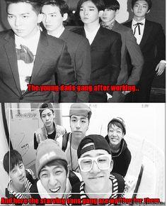 Dads and sons Bigbang Yg, Yg Ikon, Song Daehan, Winner Ikon, Boys Republic, Love Park, Song Mino, U Kiss, Meme Center