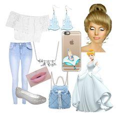 """Cinderella Back to School"" by kara-meyer on Polyvore featuring Glamorous, Miguelina, Melissa, Disney, Morphe, Salvatore Ferragamo and Casetify"