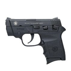 "Smith & Wesson 380 Bodyguard. This is the latest in the class of .380 ACP semi-auto ""pocket pistols"". It comes with an integrated laser, and the barrel has a safety feature. It's lightweight & easy for any female to use. (Men like this gun as well -less bulk)"