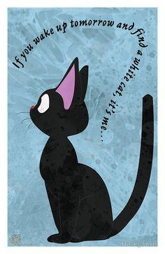 Jiji The Cat by Hailey Suits - Kiki's Delivery Service - Studio Ghibli #kiki #jiji #studioghibli
