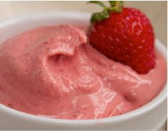 Strawberry Banana Soft-Serve Ice Cream: (Makes 2 servings, 1/3 cup each). 1 large ripe banana, chopped, ½ cup frozen strawberries, 6 Tbsp. unsweetened almond milk, 1 scoop Tropical Strawberry or Chocolate Vegan Shakeology. 1. Place banana in a plastic bag and freeze for 4 hours or until completely frozen. 2. Place frozen banana, frozen strawberries, almond milk and Shakeology in food processor or blender; cover. Blend until smooth. Serve immediately.