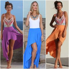 The Barcelona Skirt  New available in 4 colours at www.bytempest.com This colour pop, orange, blue or purple is perfect for a summer essential piece.  Model; @EmmaRoseOfficial Size; 0