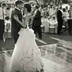 First dance outdoor wedding