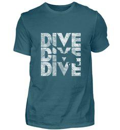 dive tauchen Taucher in Wellen weiß T-Shirt Diving, Mens Tops, Fashion, T Shirts, Scubas, Waves, Moda, Scuba Diving, Fashion Styles