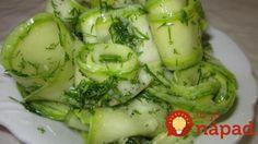 Marinovaná cuketa s kôprom a cesnakom Pumpkin Squash, Avocado Toast, Pickles, Broccoli, Cucumber, Zucchini, Tofu, Vegetables, Cooking