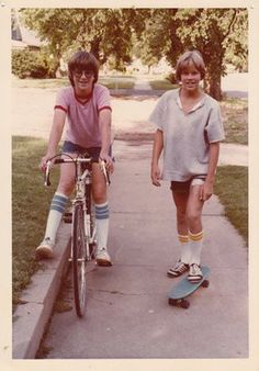 Completely 1970's - surfskakes, 10 speed bikes and boys with long hair