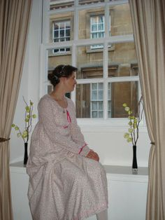 Regency daydress with pink ribbons Pink Ribbons, All Design, Regency, Shirt Dress, History, Sewing, Shirts, Dresses, Fashion