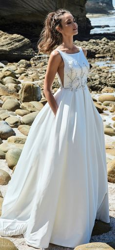 Elbeth Gillis Wedding Dress 2019 - Luminescence Bridal Collection. Bateau neckline ball gown wedding dress. Embellished princess bridal gown. Pockets wedding gown site illusion panels open back #weddingdress #weddingdresses #bridalgown #bridal #bridalgowns #weddinggown #bridetobe #weddings #bride #weddinginspiration #dreamdress #fashionista #weddingideas #bridalcollection #bridaldress #fashion #bellethemagazine #ido #getthelook #dress See more gorgeous wedding gowns by clicking on the photo