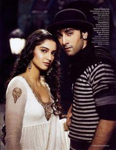 Sonam and Ranbir in their debut film Saawariya