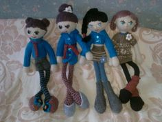 All four dolls together