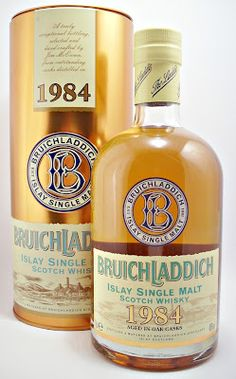 Whisky merchants 1984 Bruichladdich Single Malt Scotch Whisky
