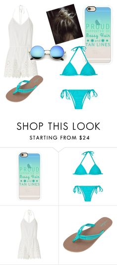 """""""Chill beach day"""" by bloomfieldt ❤ liked on Polyvore featuring Casetify, Miguelina and Volcom"""
