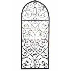 Tuscan Wrought Iron Large Wall Grille Plaque This Italian Will Be The