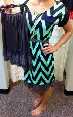 Make a DIY skirt extender for dresses/skirts that are shorter than you'd like