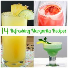 14 Refreshing Margarita Recipes. Perfect for summer, celebrating Cinco de Mayo or Friday night. Cheers!
