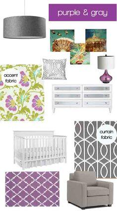 Cardigan Junkie: Dream Decorating: Purple & Gray Nursery