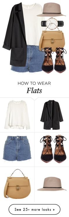 """Untitled #4518"" by laurenmboot on Polyvore featuring Mode, Topshop, H&M, Daniel Wellington, Chloé und Aquazzura"