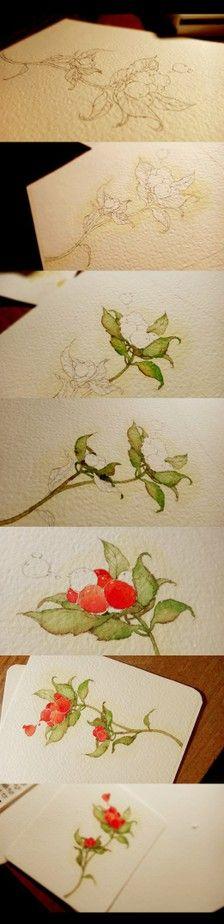 水彩手绘过……_来自Sansandara的图片分享-堆糖网