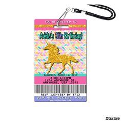 Unicorn Themed Birthday, Unicorn Birthday Invitations, Unicorn Party, Vip Pass, Unicorn Gifts, Invitation Cards, Invites, Party Ideas, Plastic Card