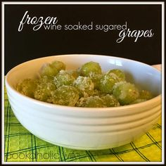 Cookaholic Wife: Frozen Wine Soaked Sugared Grapes