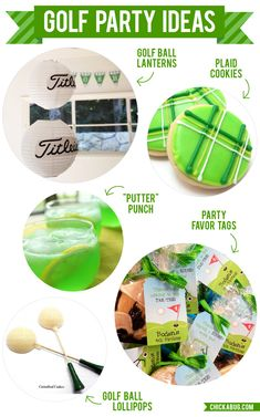 Golf birthday parties are so much fun to plan, because there are so many creative ways to play with the theme. Here are some great golf party ideas! Party Favor Tags, Party Favors, Grad Parties, Birthday Parties, Birthday Celebration, Golf Party Decorations, Golf Centerpieces, Golf Outing, Golf Theme