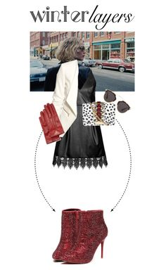 """""""Winter Layers #2"""" by annasinger ❤ liked on Polyvore featuring Nome, Topshop, H&M, GEDEBE, Posh Girl, Christian Dior, Prada, women's clothing, women's fashion and women"""