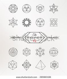 Sacred geometry. Alchemy, religion, philosophy, spirituality, hipster symbols and elements