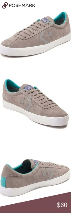 *NIB*  Converse Cons Suede Break Point Ox New In Box Converse Cons Suede Break Point.  Grey/Aqua/White. Converse Shoes Athletic Shoes