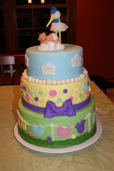 Stork and Baby Cake