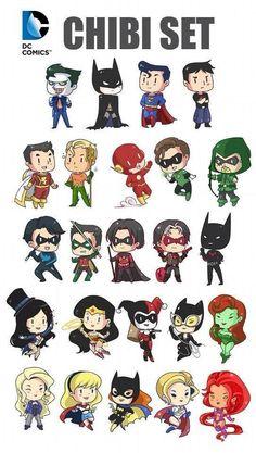 Imagem de dc comics, batman, and chibi Nightwing, Batgirl, Catwoman, Character Drawing, Comic Character, Comic Art, Comic Books, Harely Quinn, Univers Dc
