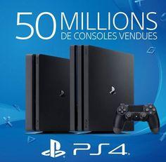 Sony a vendu plus de 50 millions de PS4 dans le monde