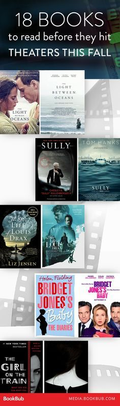 Books to read this fall before they arrive in theaters! Including The Girl on the Train by Paula Hawkins.