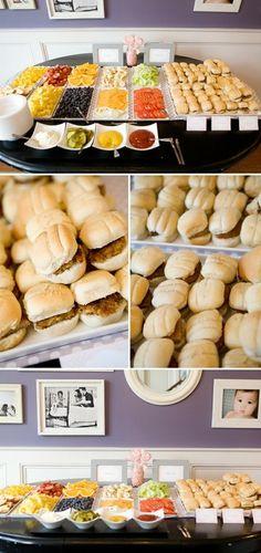 Build your own burger bar  Not a bad idea