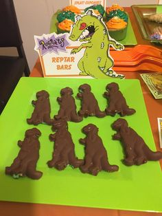 How to make Reptar Bars for a Nickelodeon themed party.