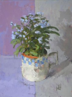 'Forget-Me-Not' by Jill barthorpe. Part of the 'Still Life' exhibition at gallerytop, opening Saturday 15 August 2015