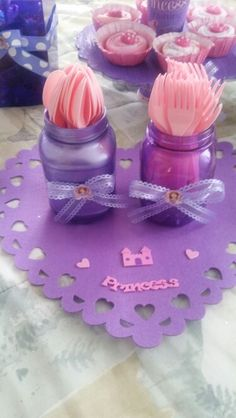 Sofia the first decorations Mason jars