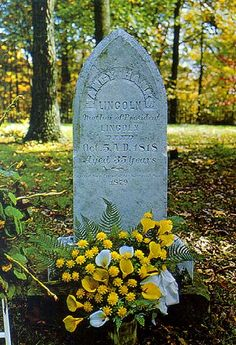 Grave Marker- Nancy Hanks Lincoln - She is best known as the mother of United States President Abraham Lincoln. Abraham Lincoln was nine at the time of his mother's death.