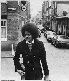 Michael Jackson in Amsterdam by Claude Vanheye (1977)