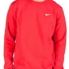Brand New Nike Mens Club Swoosh Crew Sweat Jumper (Red) Baddie, Nike Men, Jumper, Sportswear, Brand New, Club, Red, Stuff To Buy, Ebay