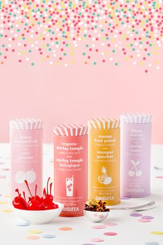 Take our teas on the go with these cute, colourful tins.