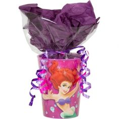 Little Mermaid Goodie Bag - Idea a cup with candy inside and maybe a juice box