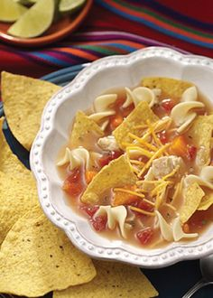 This No-Fuss Tortilla Soup recipe only takes 10 minutes to make – perfect for dinner in a pinch!
